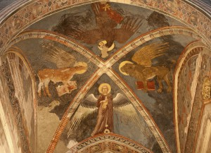 Verona - Fresco of Four Evangelists in San Fermo Maggiore